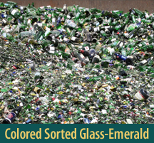 Color Sorted Glass-Emerald